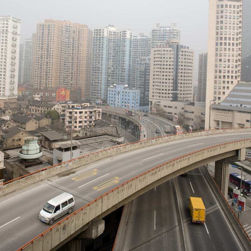 Download Roads of Shanghai stock image. Image of vehicles, action - 8552207