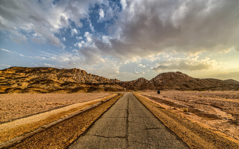 Roads of Timna royalty free stock photography