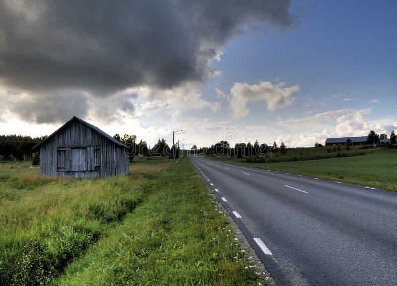 Roadside barn royalty free stock photos