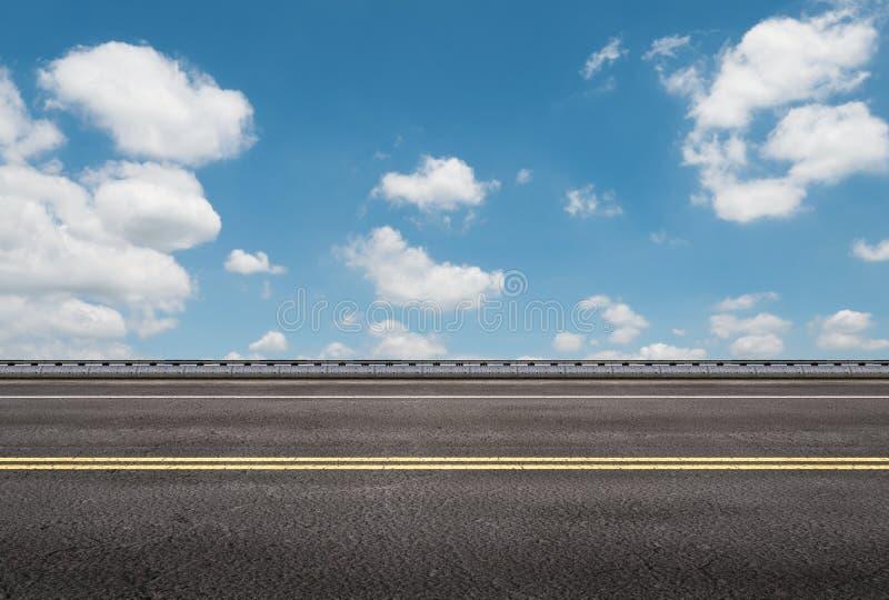 Roadside with blue sky background royalty free illustration