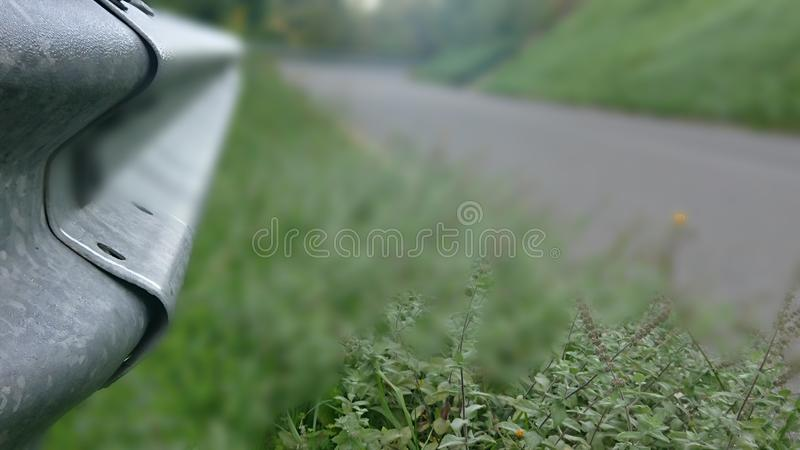 Roadside Crash Barrier Closeup royalty-vrije stock fotografie
