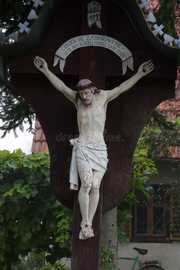 Roadside Crucifix stock image