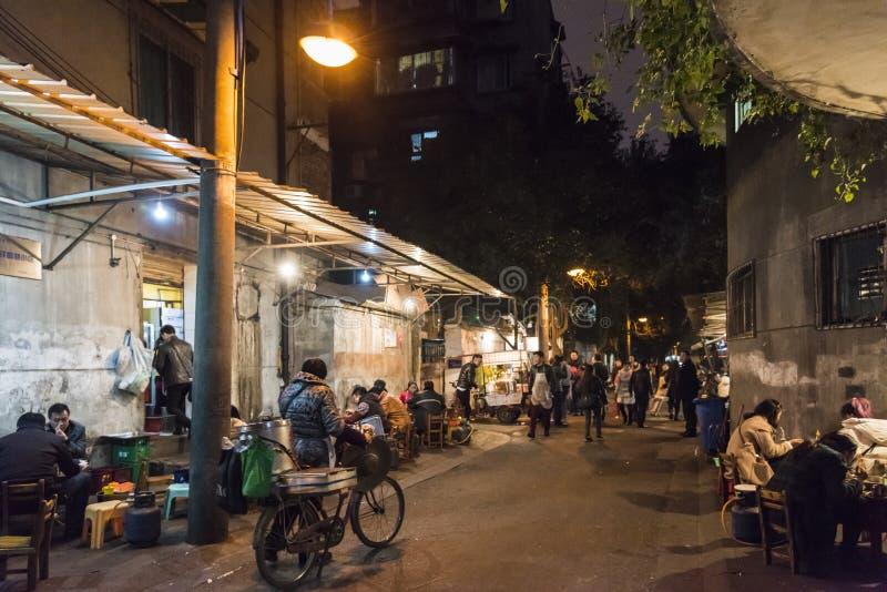 Roadside hotpot restaurant at night royalty free stock photography