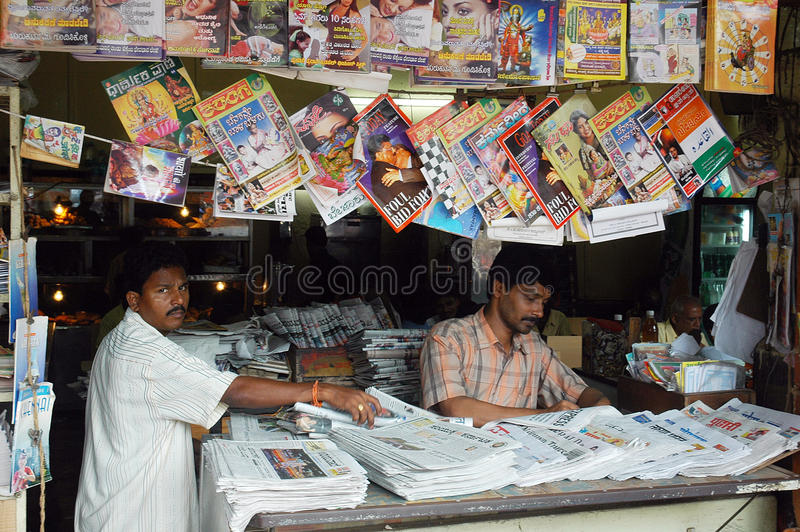 Download Roadside Magazine Stall Of Goa. Editorial Image - Image: 12162995