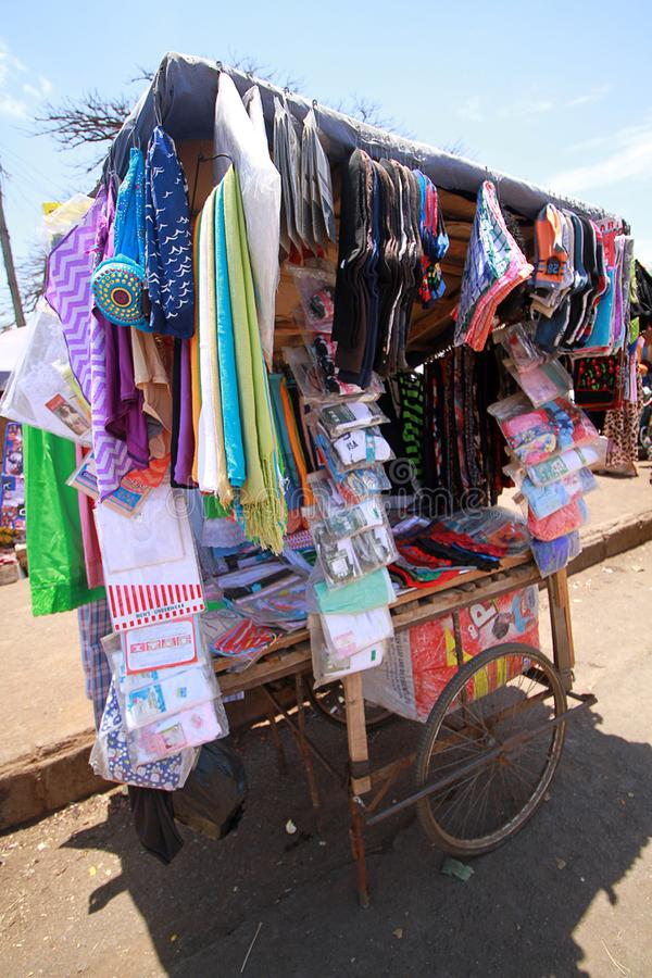 A roadside makeshift stall along the streets of Accra, Ghana stock photos