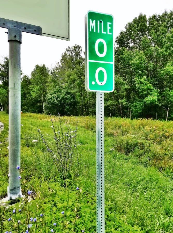 Roadside Mile Marker royalty free stock photos