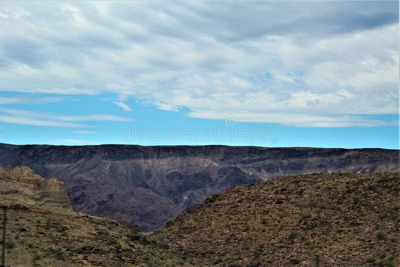 Scenic landscape view Las Vegas to Phoenix, Arizona, United States stock photo