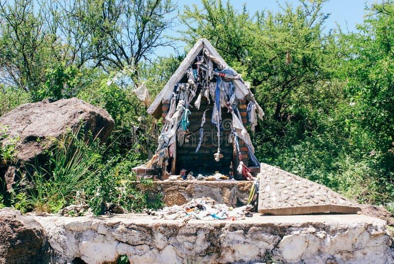 Roadside Shrines en Argentina foto de archivo