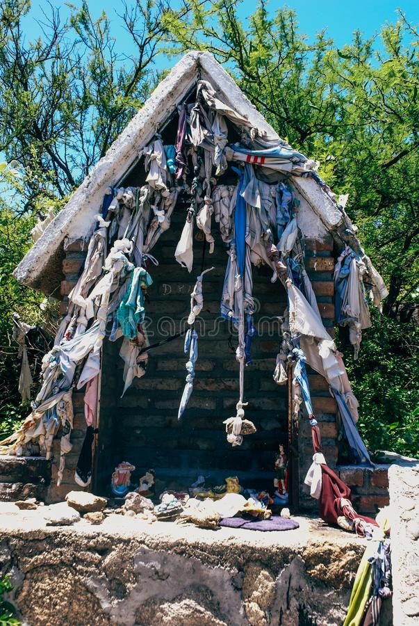 Roadside Shrines en Argentina imágenes de archivo libres de regalías