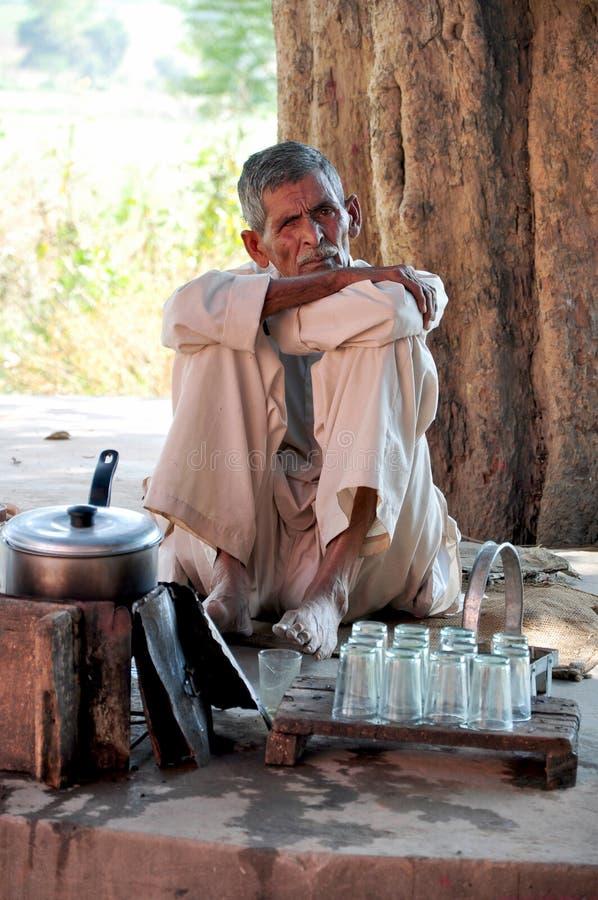 Roadside tea shop. Beautiful shot of road side tea stall at hoshiarpur main road in punjab india royalty free stock photos