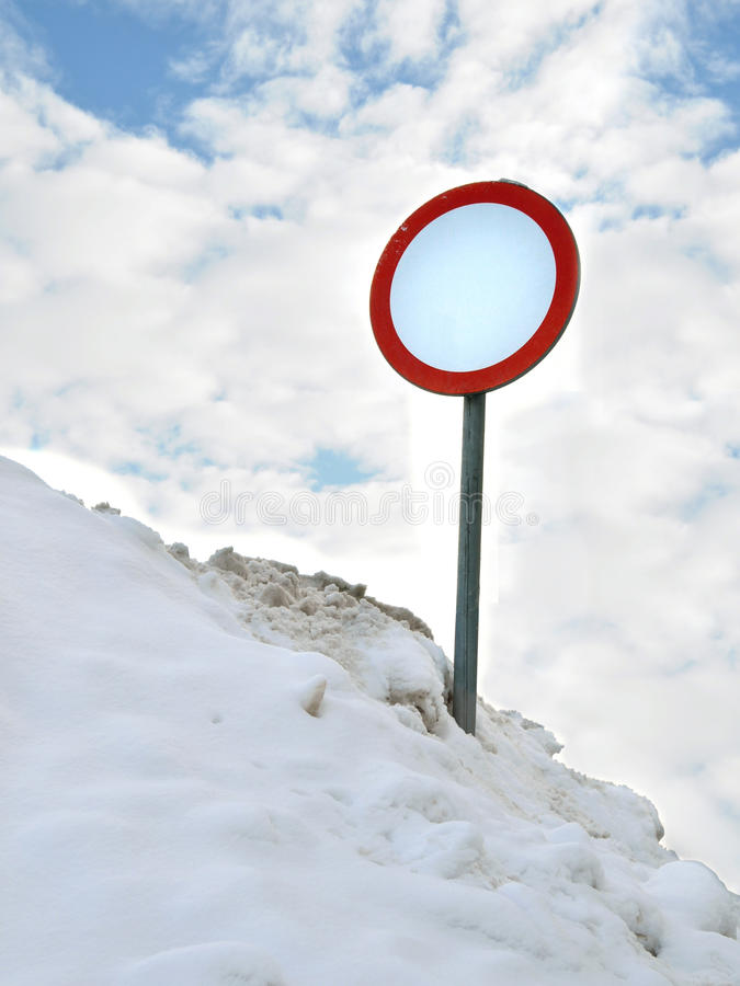 Download Roadsign stock photo. Image of winter, entry, symbol - 12868452