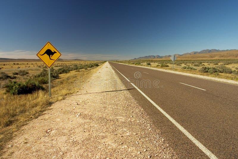 Roadsign australiano immagini stock libere da diritti