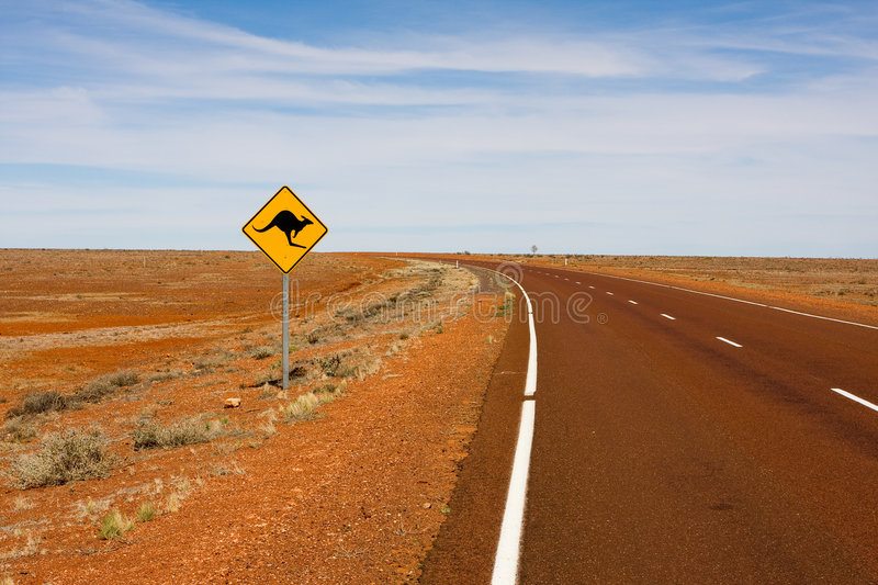 Roadsign australien photos stock