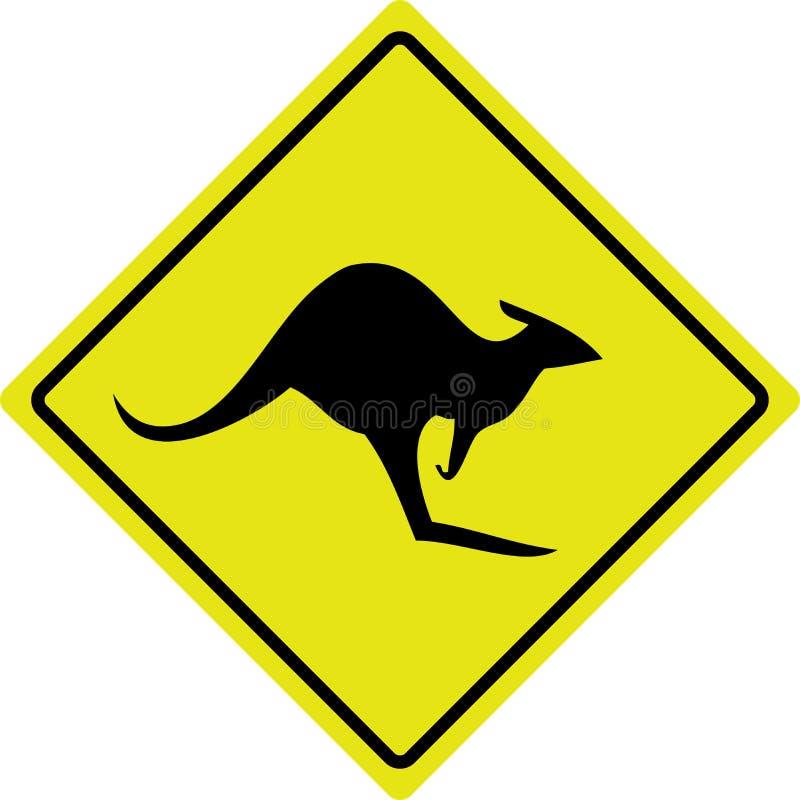 roadsign australien de kangourou illustration stock