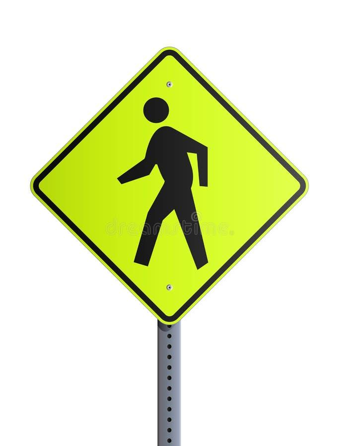 roadsign crosswalk иллюстрация штока