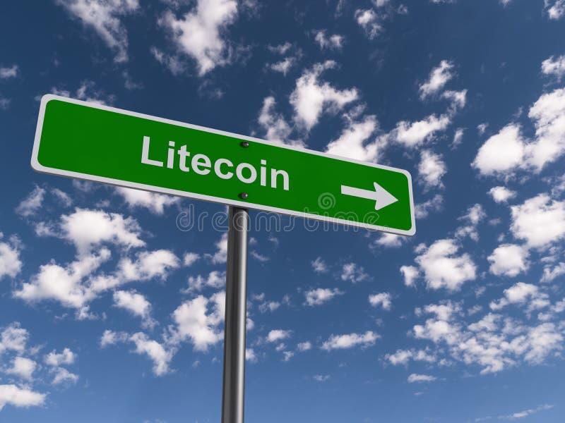 Roadsign de Litecoin illustration stock