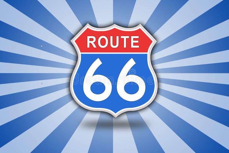 Roadsign de Route 66 illustration de vecteur