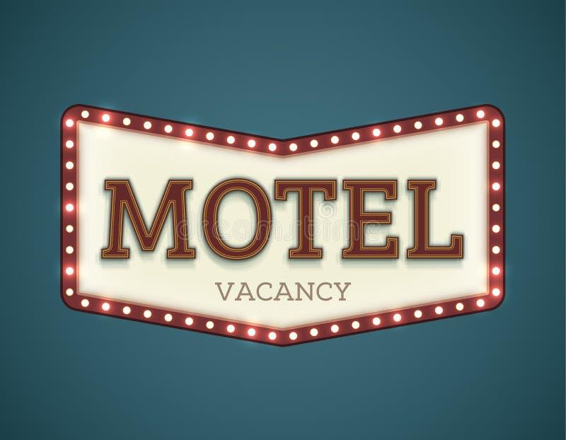 Roadsign del motel illustrazione vettoriale