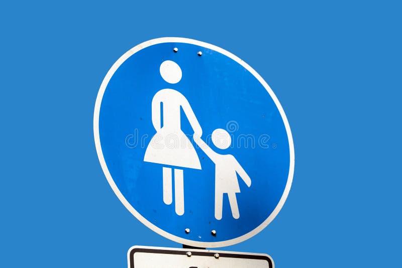 Roadsign del pedone del bambino fotografia stock