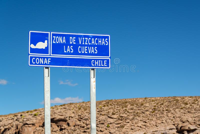 Roadsign dos cuevas do La, o Chile fotografia de stock royalty free