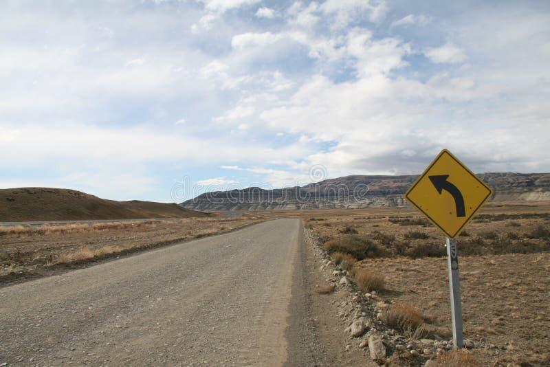 Roadsign en Argentine photo libre de droits