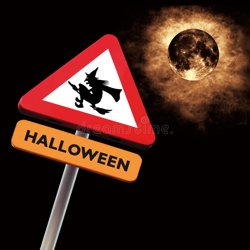 roadsign halloween стоковая фотография rf