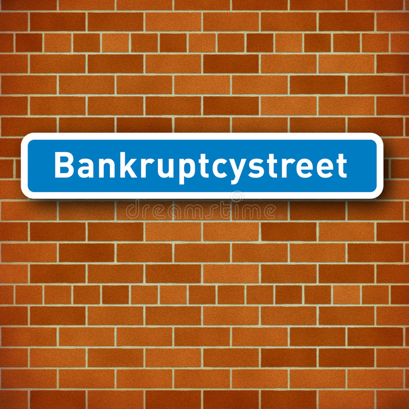 Download Roadsign With The Name Bankruptcy Street Stock Illustration - Illustration: 8227674