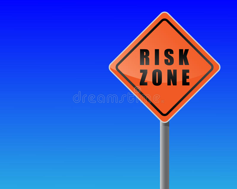 Roadsign risk zone. vector illustration
