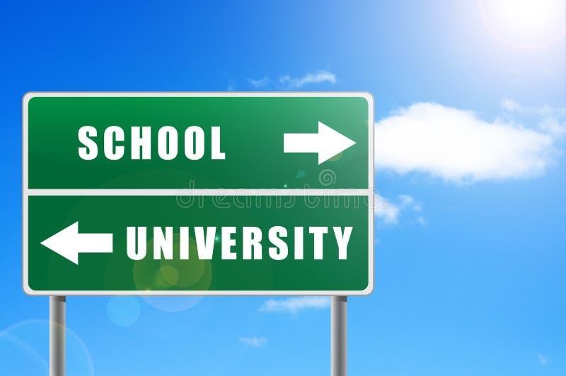 Download Roadsign School University. Stock Photos - Image: 17577773