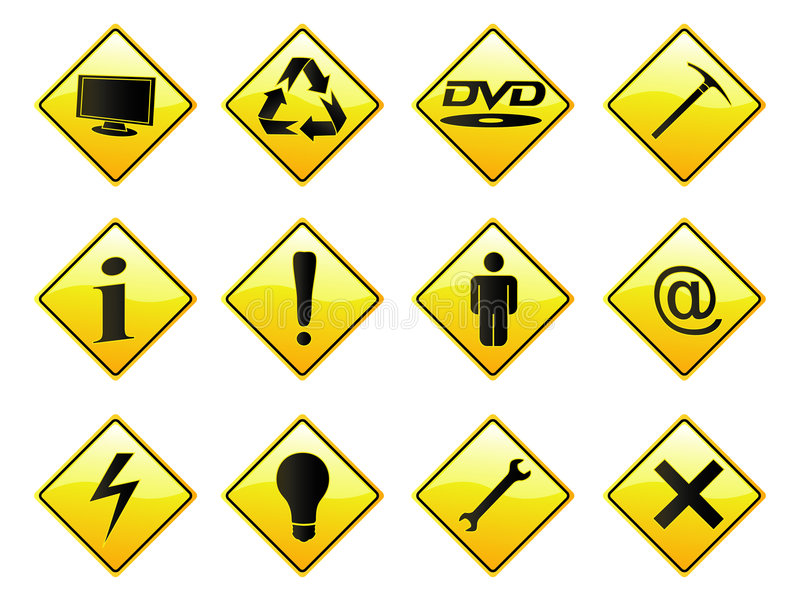 RoadSigns Royalty Free Stock Photos