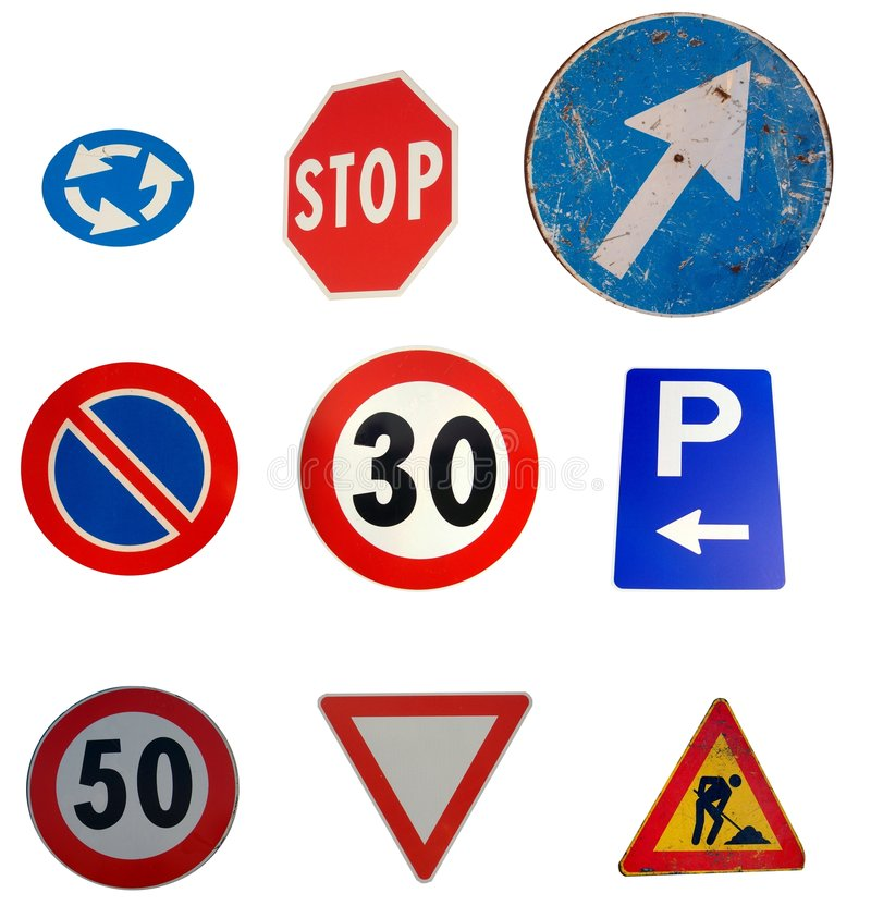 Roadsigns fotografia de stock
