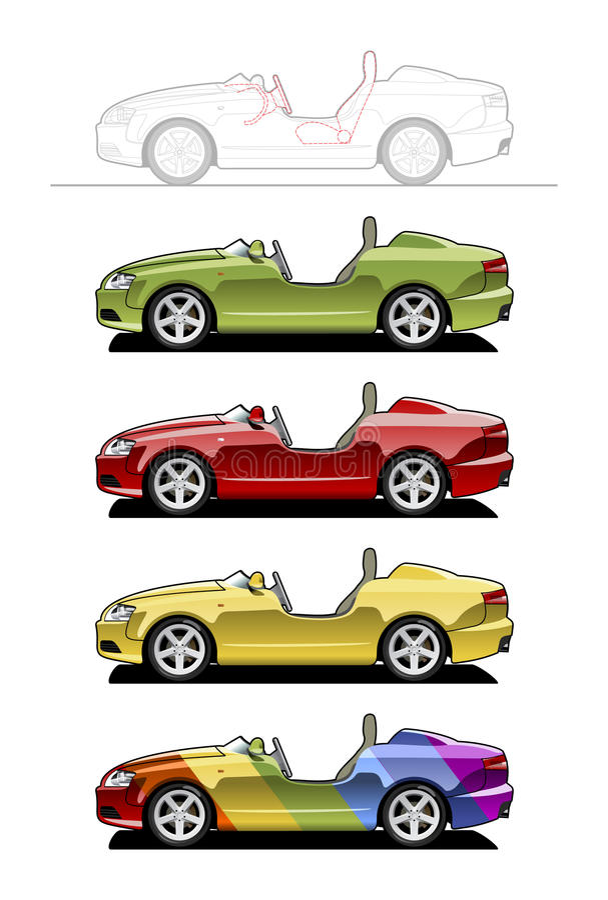 roadster vektor illustrationer