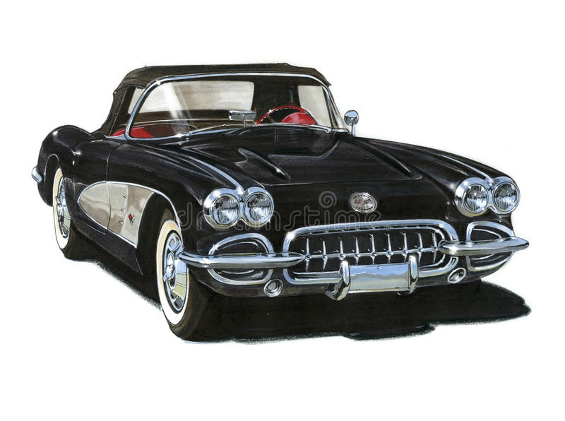 Roadster 1959 de Chevrolet Corvette illustration stock