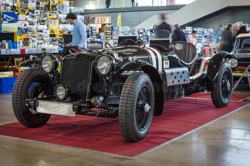 Roadster Alvis FWD, 1928. STUTTGART, GERMANY - MARCH 18, 2016: Roadster Alvis FWD, 1928. Europe's greatest classic car exhibition RETRO CLASSICS royalty free stock photography