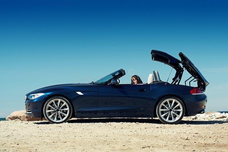 Roadster blu immagine stock libera da diritti