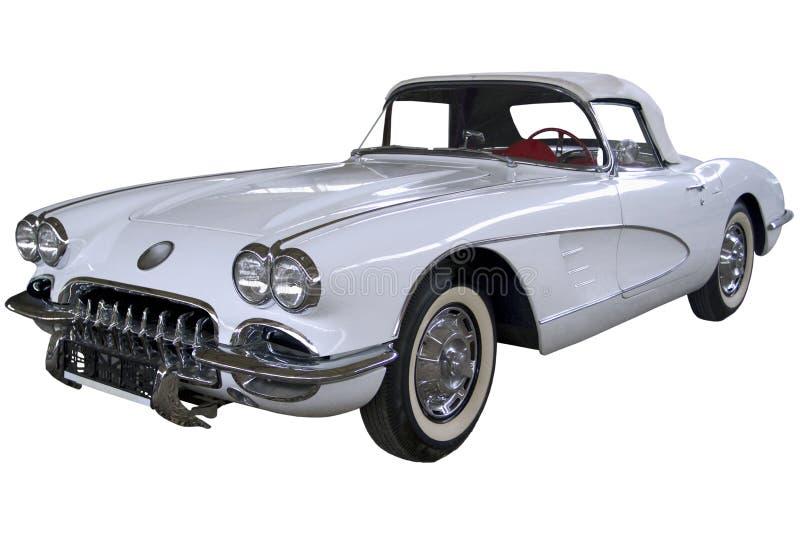 Roadster de blanc de vintage photographie stock
