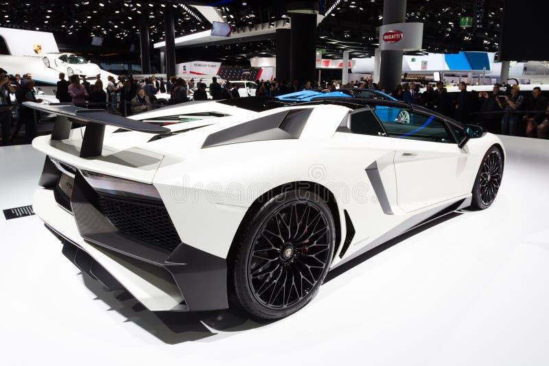 Roadster 2015 de Lamborghini Aventador SV photos libres de droits
