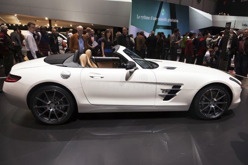 Roadster de Mercedes-Benz SLS AMG photos libres de droits