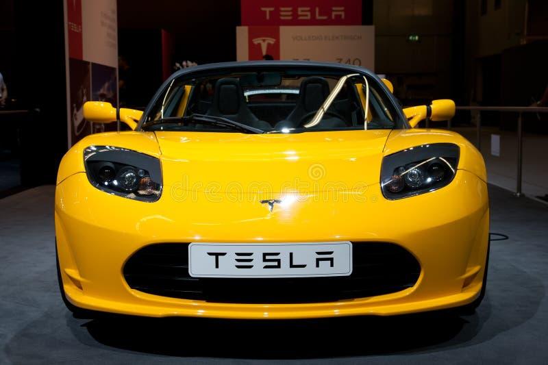 Roadster de Tesla imagens de stock royalty free