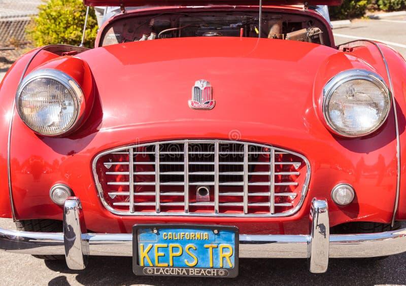 Roadster de Triumph du rouge 1957 photos stock