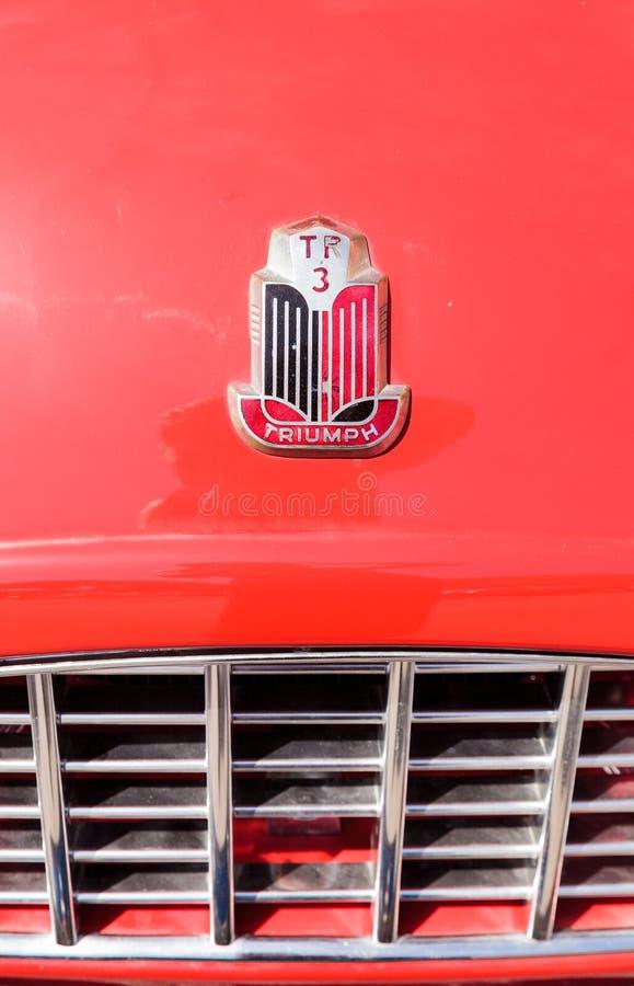 Roadster de Triumph du rouge 1957 photographie stock