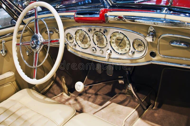Roadster del benz 500K di Mercedes, interno fotografia stock