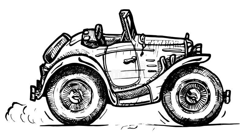 Roadster dell'annata royalty illustrazione gratis
