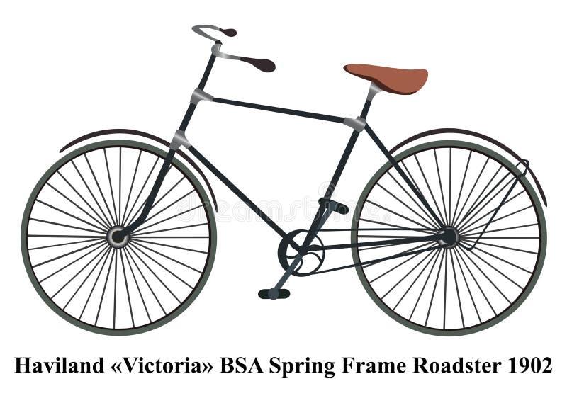Roadster för Haviland Victoria BSA vårram som isoleras på vita lodisar vektor illustrationer