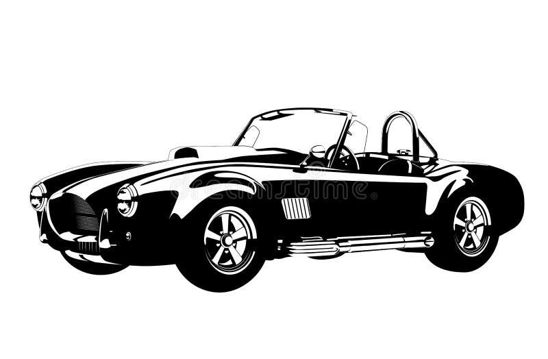 Roadster för kobra för ac för bil för sport för  för kontur Ñ lassic shelby vektor illustrationer