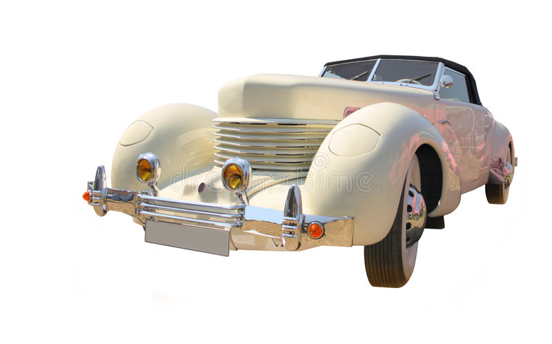 Roadster isolated royalty free stock image
