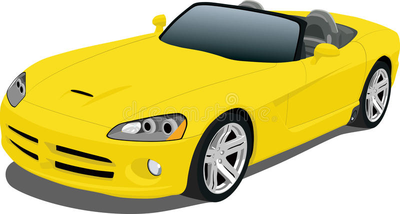 Roadster jaune illustration stock