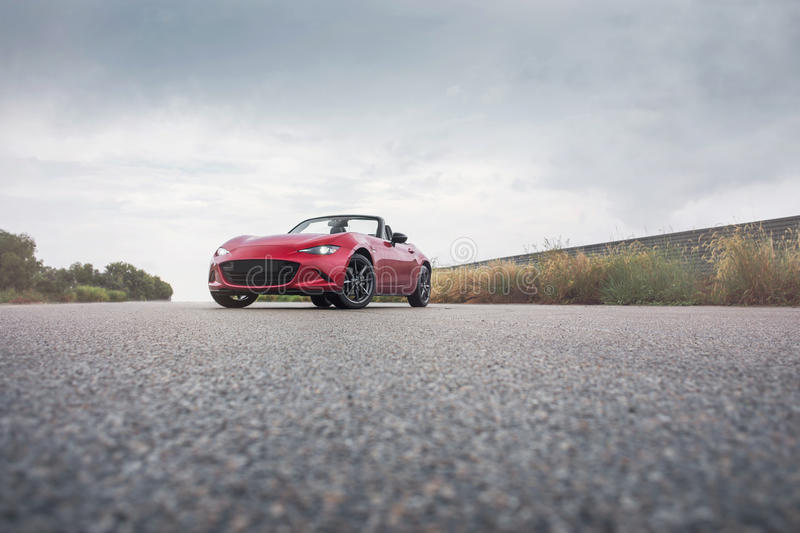 Roadster. Mazda roadster or mx5. Shot in an Asian country royalty free stock images