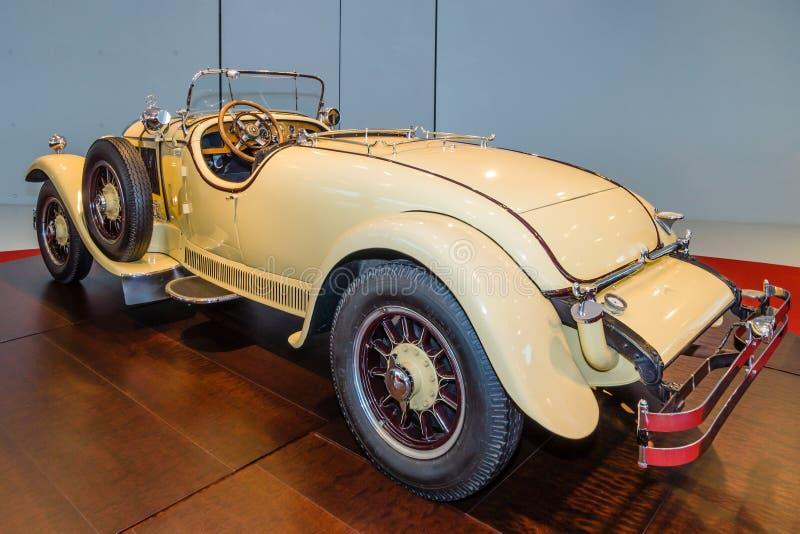 Roadster Mercedes-Benz 24/100/140 PS, 1926. STUTTGART, GERMANY- MARCH 19, 2016: Roadster Mercedes-Benz 24/100/140 PS. Owners of this car: Oscar Henschel ( stock images