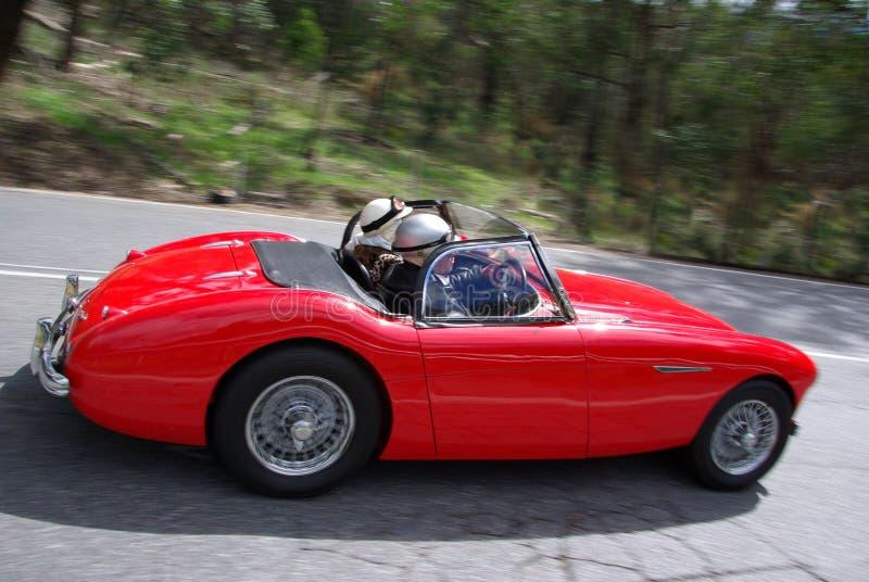 Roadster rosso di Austin Healey fotografia stock libera da diritti